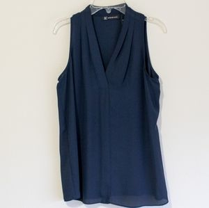 INC Dark Blue Silk Dress